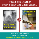 Baby tooth root canal or pulled tooth