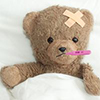 Head injury Teddy Bear